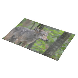 Wily Wolf Cloth Placemat