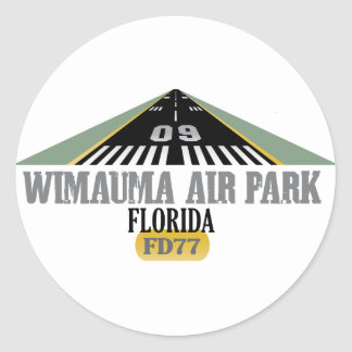 Wimauma Air Park Florida - Airport Runway Classic Round Sticker