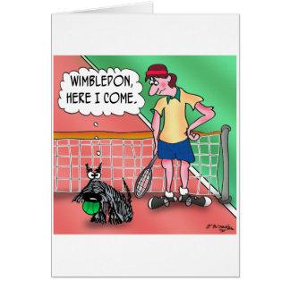 Wimbledon, aquí vengo tarjeta de felicitación
