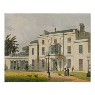 Wimbledon House, from Ackermann's 'Repository of A Poster