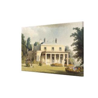 Wimbledon Park, from R. Ackermann's (1764-1834) 'R Canvas Print