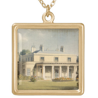 Wimbledon Park, from R. Ackermann's (1764-1834) 'R Gold Plated Necklace