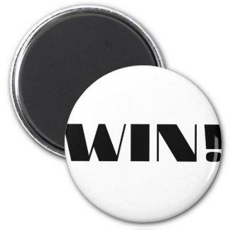 Win! 2 Inch Round Magnet