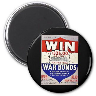 Win 325 00 Monthly For Your Ideas War Bonds Refrigerator Magnet