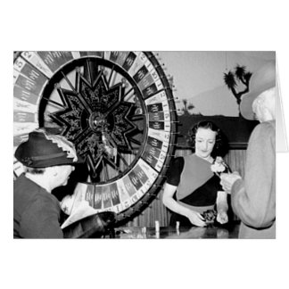 Win A Fortune Vintage Las Vegas Casino Greeting Card
