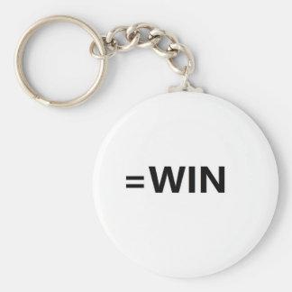 =win basic round button keychain