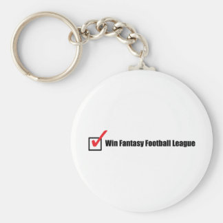 Win Fantasy Football League : Check Basic Round Button Keychain