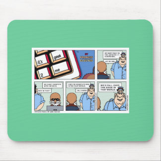Win in a flat world! mouse pad