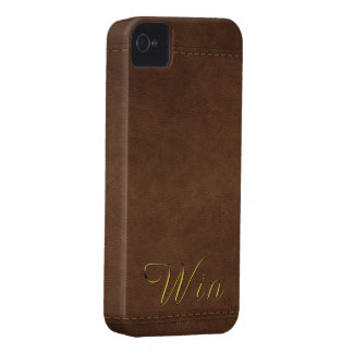 WIN Leather-look Customised Phone Case