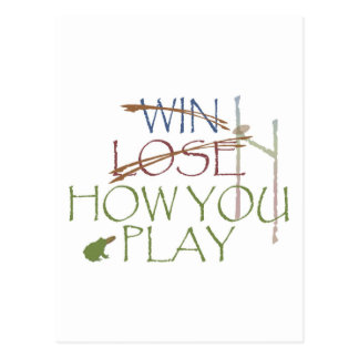 Win / Lose / How You Play Postcard
