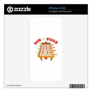 Win Or Foos Skin For iPhone 4