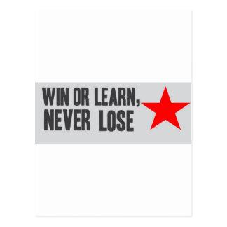 Win or Learn Postcard