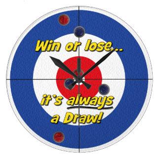 """Win or lose..."" Curler's Clock - (Blue)"