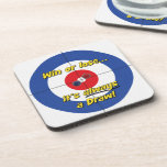 """""""Win or lose..."""" Curler's Coasters - (Blue)"""
