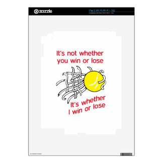 WIN OR LOSE TENNIS DECAL FOR THE iPad 2