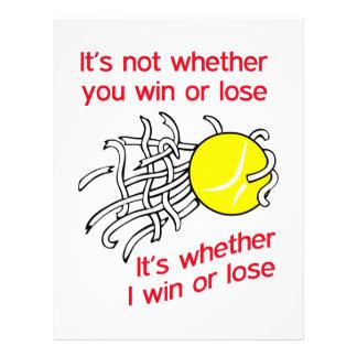 WIN OR LOSE TENNIS LETTERHEAD
