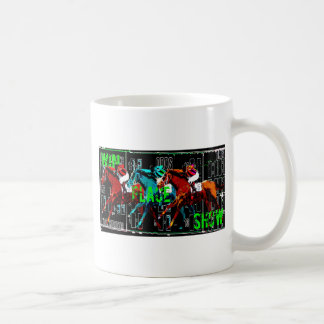 win place show horse racing coffee mug