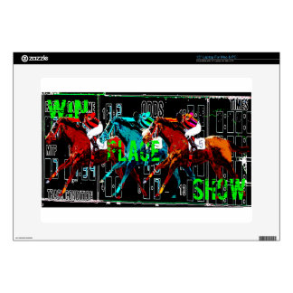 "win place show horse racing decal for 15"" laptop"
