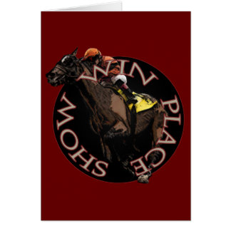 Win, Place, Show - Horse Racing Gear Card