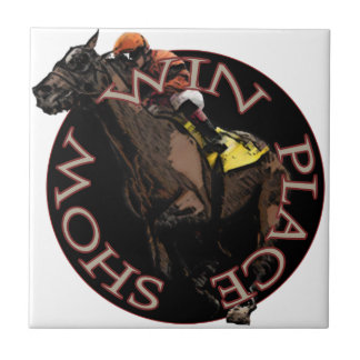 Win, Place, Show - Horse Racing Gear Tile