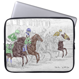 Win Place Show Race Horses Computer Sleeve