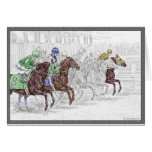 Win Place Show Race Horses Greeting Cards