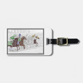 Win Place Show Race Horses Luggage Tag