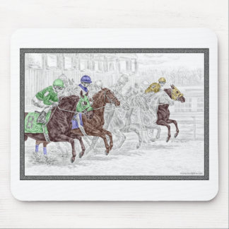 Win Place Show Race Horses Mouse Pad