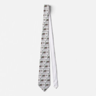 Win Place Show Race Horses Neck Tie
