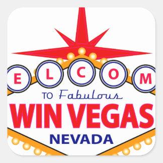 Win Vegas Square Sticker
