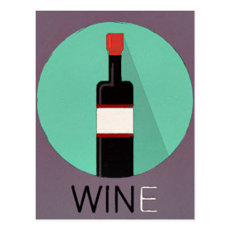 Win Wine Postcard