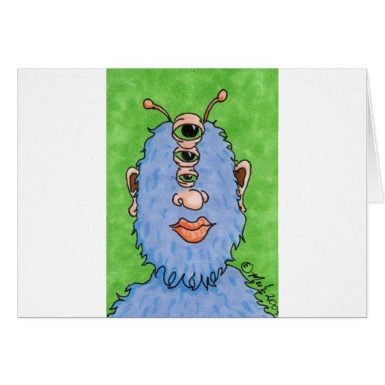 winagog el monstruo tarjeta de felicitación