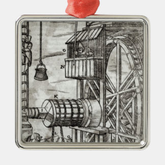 Winch for getting water from a mine metal ornament