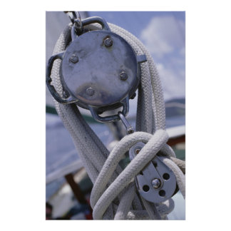 Winch On Boat Poster