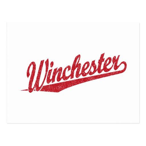 Winchester apenó rojo postal
