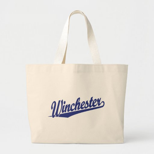Winchester Blue Canvas Bags