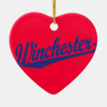 Winchester Blue Christmas Tree Ornaments