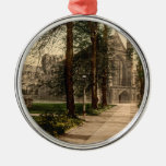 Winchester Cathedral, Hampshire, England Round Metal Christmas Ornament