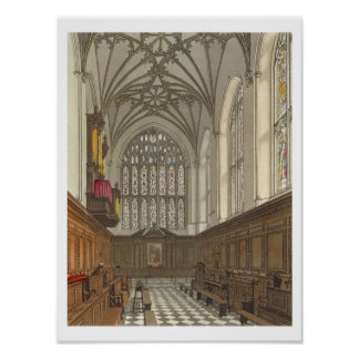 Winchester College Chapel, from 'History of Winche Poster