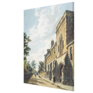 Winchester College Entrance with the Warden's Hous Canvas Print