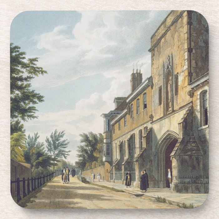 Winchester College Entrance with the Warden's Hous Coaster