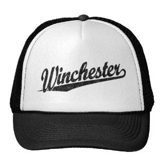 Winchester distressed black trucker hat