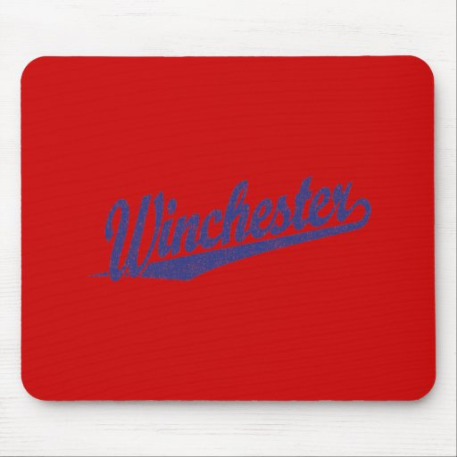 Winchester distressed blue mousepads