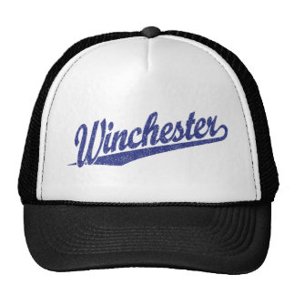 Winchester distressed blue trucker hat
