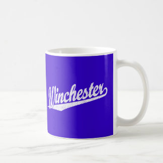 Winchester distressed white coffee mug