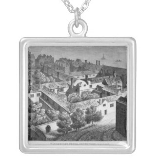 Winchester House, Southwark in about 1649 Silver Plated Necklace