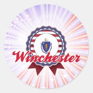 Winchester, mA Pegatina Redonda