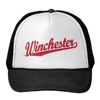 Winchester red trucker hat
