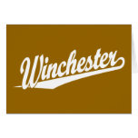 Winchester white greeting card