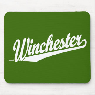 Winchester white mouse pad